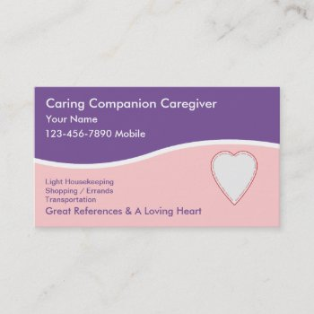 Browse products at zazzle with the theme caregiver business cards caregiver business cards colourmoves