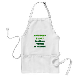 Caregiver by Day Football Fanatic by Weekend Adult Apron