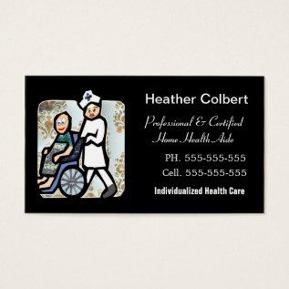 Caregiver Cute Professional Business Card at Zazzle
