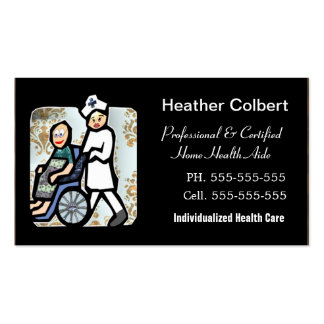 Caregiver Cute Professional Double-Sided Standard Business Cards (Pack Of 100)