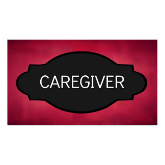 Caregiver Elegant Name Plate Double-Sided Standard Business Cards (Pack Of 100)