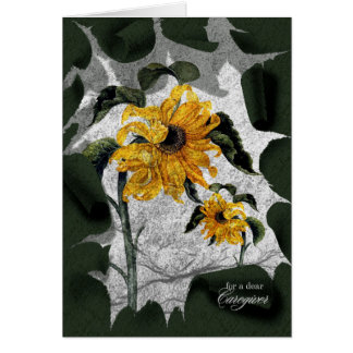 Caregiver Encouragement - Withered Sunflowers Card