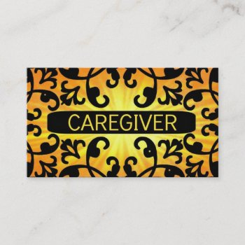 Browse products at zazzle with the theme caregiver business cards caregiver sunshine damask business card reheart Choice Image