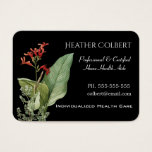 Caregiver Trusting Floral Professional Business Card