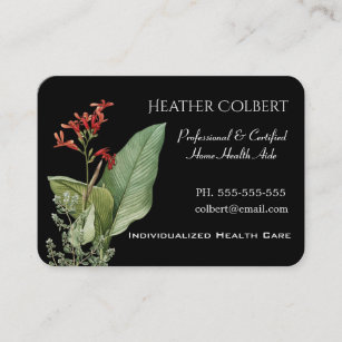Home health care business cards zazzle caregiver trusting floral professional business card colourmoves