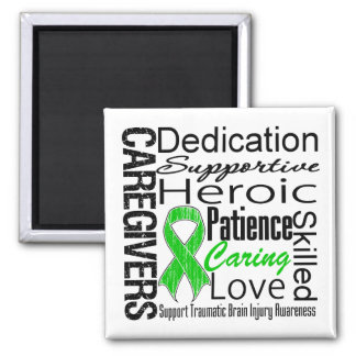 Caregivers Collage Traumatic Brain Injury 2 Inch Square Magnet