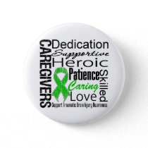 Caregivers Collage Traumatic Brain Injury Pinback Button
