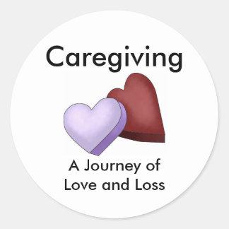 Caregiving, un viaje del amor y del pegatina de la