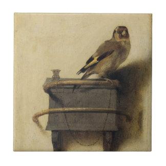 Carel Fabritius el Goldfinch Azulejo Cuadrado Pequeño