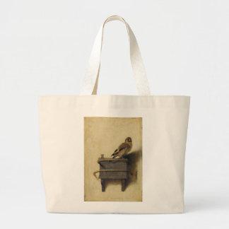 Carel Fabritius el Goldfinch Bolsa De Tela Grande