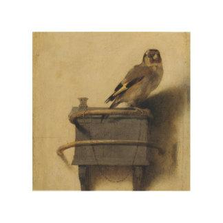 Carel Fabritius el Goldfinch Cuadro De Madera