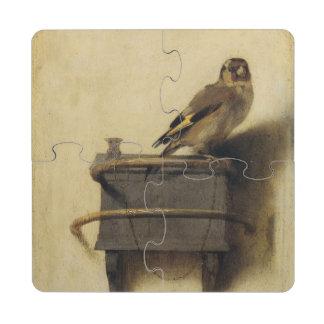 Carel Fabritius el Goldfinch Posavasos De Puzzle