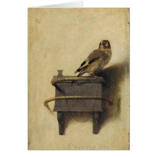 Carel Fabritius el Goldfinch Tarjeta De Felicitación