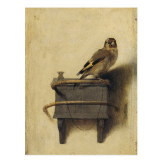 Carel Fabritius el Goldfinch Tarjeta Postal