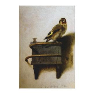 Carel Fabritius The Goldfinch Canvas Print