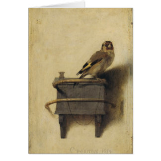 Carel Fabritius The Goldfinch Greeting Card