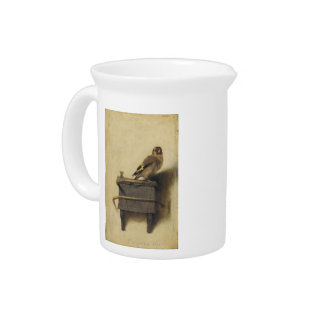 Carel Fabritius The Goldfinch Drink Pitchers