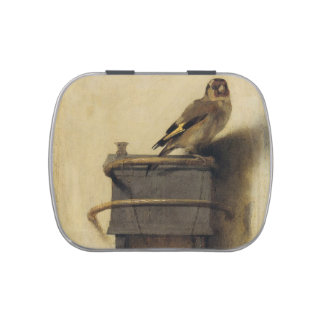 Carel Fabritius The Goldfinch Jelly Belly Candy Tin