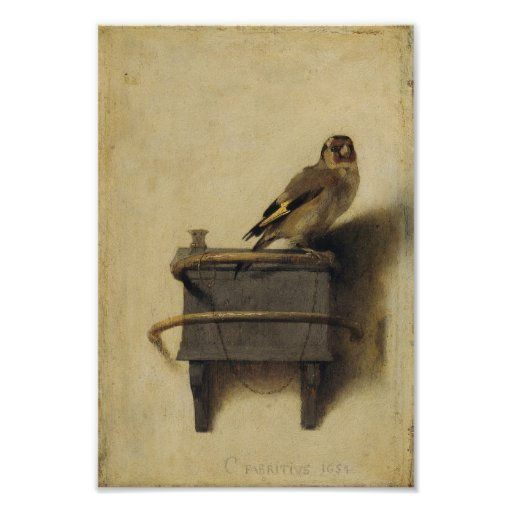 Carel Fabritius The Goldfinch Posters