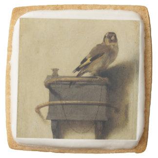 Carel Fabritius The Goldfinch Square Shortbread Cookie
