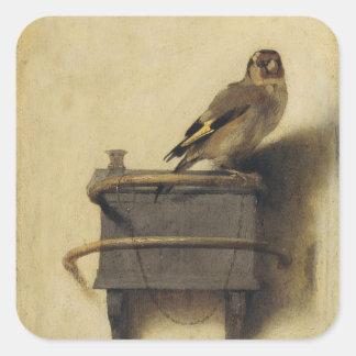 Carel Fabritius The Goldfinch Square Sticker