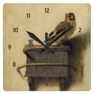 Carel Fabritius The Goldfinch Square Wall Clock