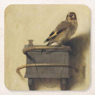 Carel Fabritius The Goldfinch Square Paper Coaster