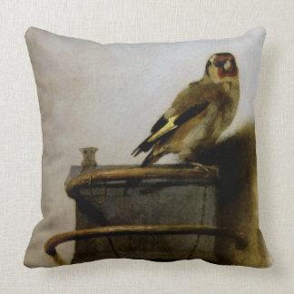 Carel Fabritius The Goldfinch Throw Pillow