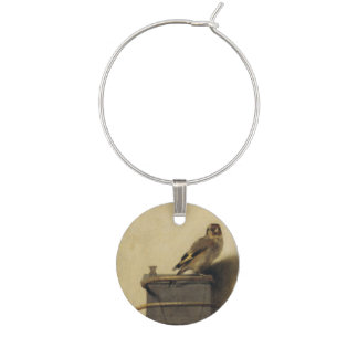 Carel Fabritius The Goldfinch Wine Glass Charm