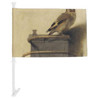 Carel Fabritius The Goldfinch Car Flag