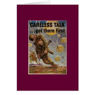 Careless Talk Card