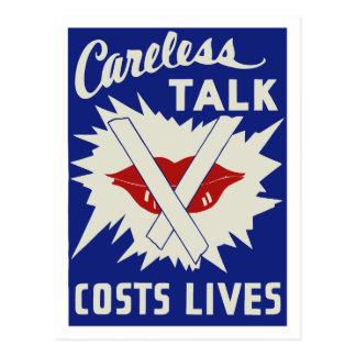 Careless talk costs lives postcard
