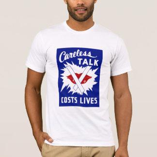 Careless Talk Costs Lives T-Shirt
