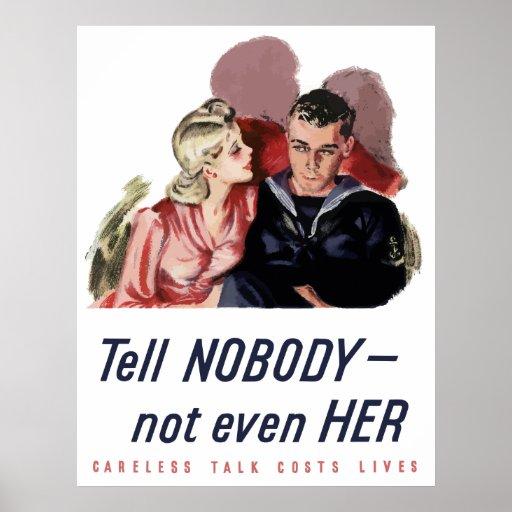 Careless Talk Costs Lives -- WW2 Print