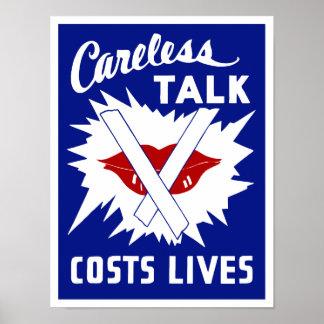 Careless Talk Costs Lives -- WW2 Poster