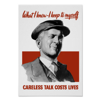 Careless Talk Costs Lives - WWII Propaganda Poster