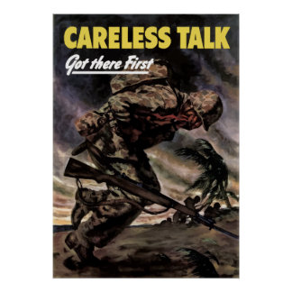 Careless Talk Got There First Poster