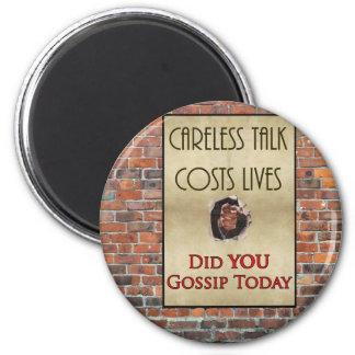Careless Talk Propaganda Poster 2 Inch Round Magnet