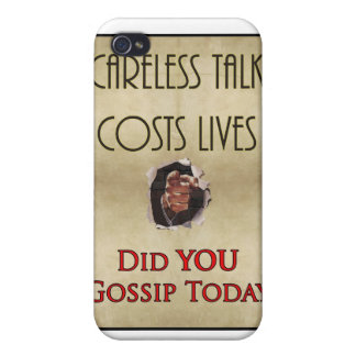 Careless Talk Propaganda Poster Case For iPhone 4