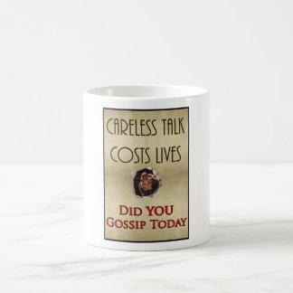 Careless Talk Propaganda Poster Coffee Mug