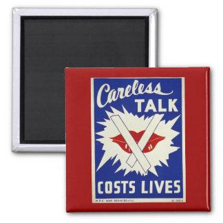 Careless Talk Vintage War Poster Magnet