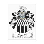 Carelli Family Crest Stretched Canvas Prints
