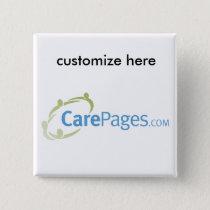 CarePages.com Custom Logo Magnet Pinback Button