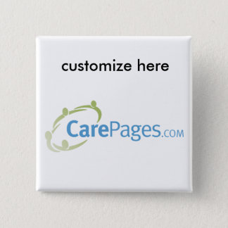 CarePages.com Custom Logo Magnet Pinback Button