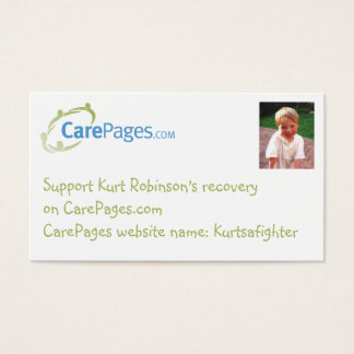 CarePages Custom Business-sized Cards