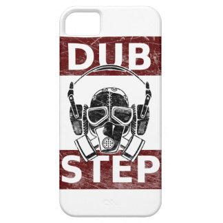 Careta antigás de Dubstep y auriculares Funda Para iPhone 5 Barely There