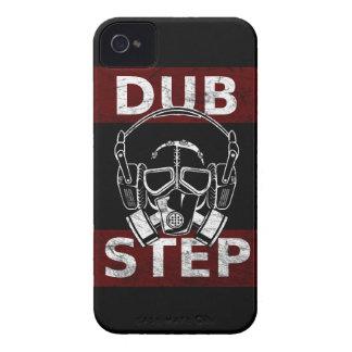 Careta antigás de Dubstep y auriculares iPhone 4 Carcasas