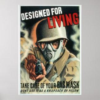 Careta antigás póster
