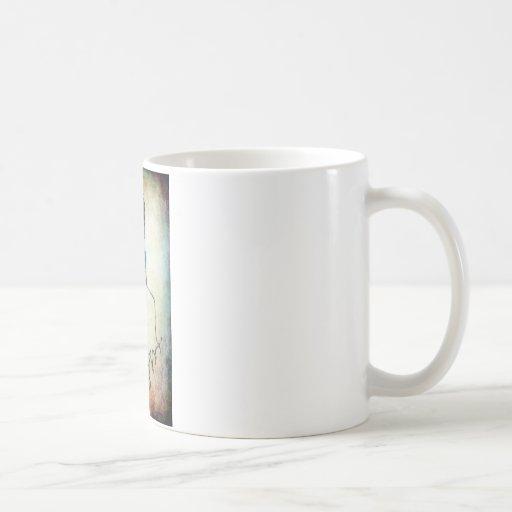 Careta antigás punky del arte taza de café