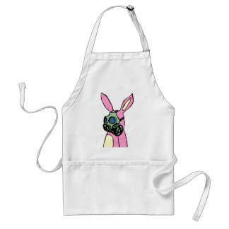 Careta antigás rosada del conejo de conejito delantal